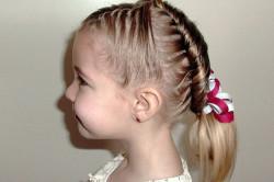 Детская прическа с косичками