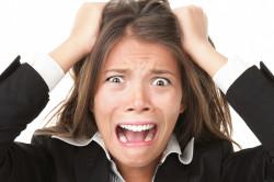 Длительный стресс - причина потери волос