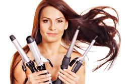 Использование плойки для волос