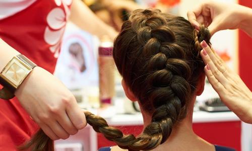 Плетение прически из кос