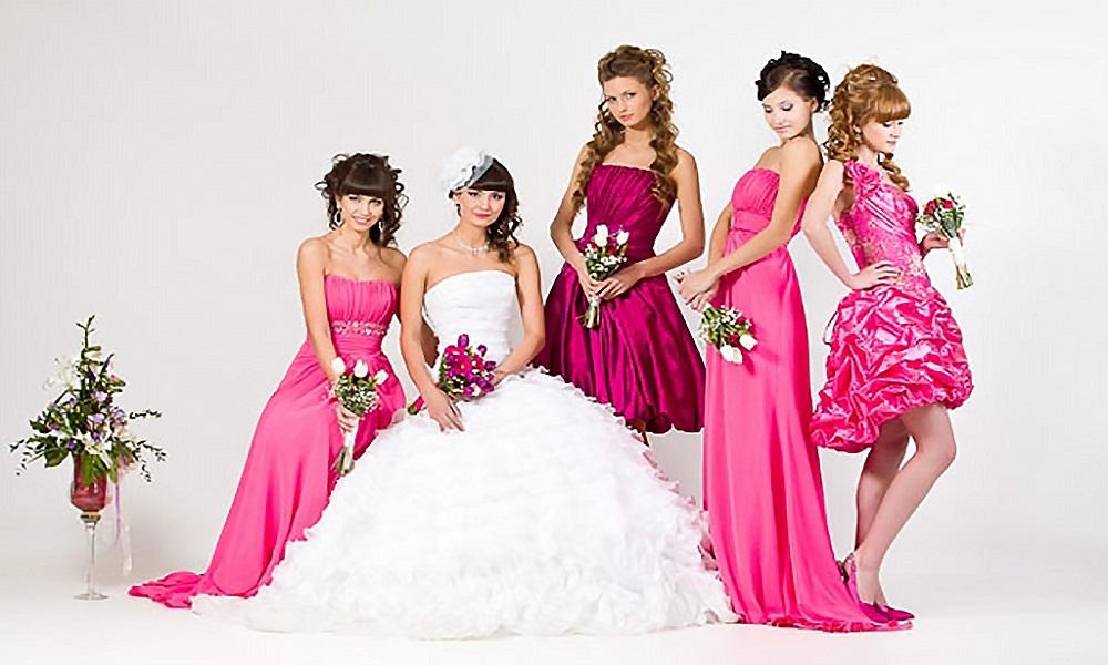 Прическа подружек невесты