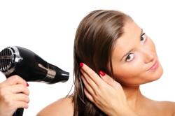 Подсушивание волос перед восстановлением