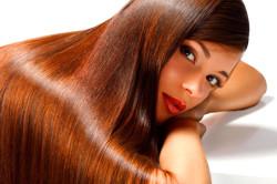 Чистые и блестящие волосы без челки