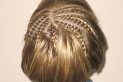 Ажурные косички на короткие волосы