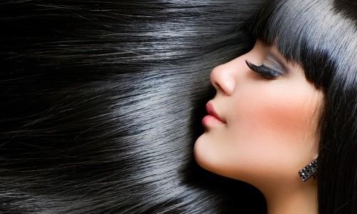 Блестящие волосы после бразильского выпрямления