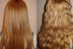 Волосы до и после карвинга