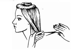 Процесс градуирования волос