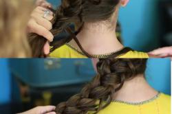 Плетение французской косы на бок