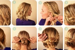 Этапы плетения косички на средние волосы