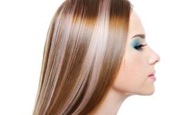 Мелирование волос бликами