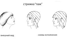"""Схемы исполнения стрижки """"Паж"""""""
