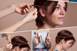 Этапы создания греческой прически на коротких волосах