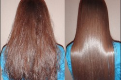 Волосы до и после процедуры