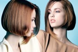 Стрижка боб на средних волосах