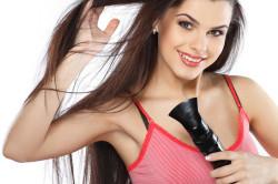 Сушка чистых вымытых волос