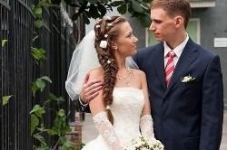Свадебная прическа из кос