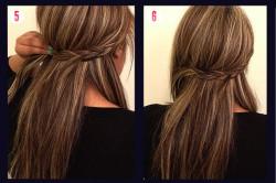 Быстрая прическа для длинных волос