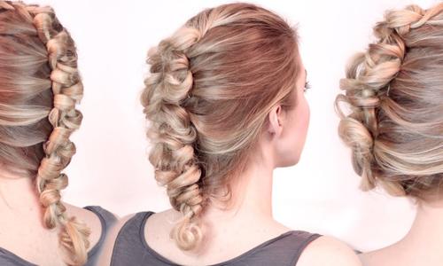 Французская коса с петельками