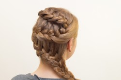 Рисунок 3. Французская коса зигзагом