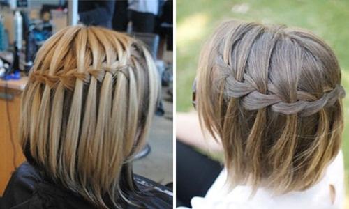 Французский водопад на короткие волосы