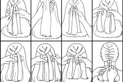 Техника плетения косы дракончик