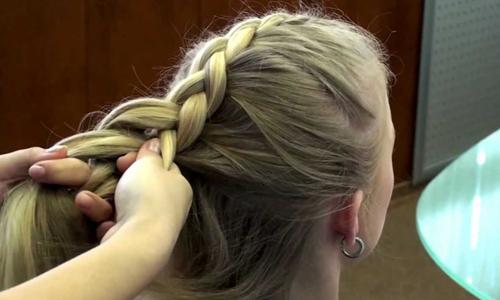 Рисунок 1. Обратная французская коса