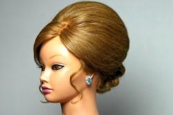 Фото 2. Высокая вечерняя прическа для длинных волос