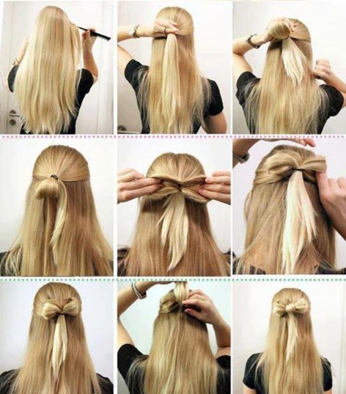 собирания волос в хвост и