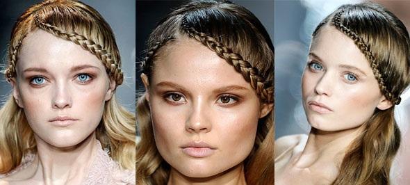 Плетение кос без чёлки