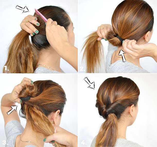 Прически для волос своими руками в школу