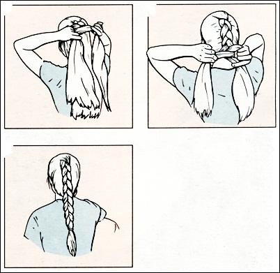 Схема плетения косы-жгут