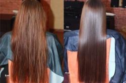 """Ламинирование волос """"до"""" и """"после"""""""