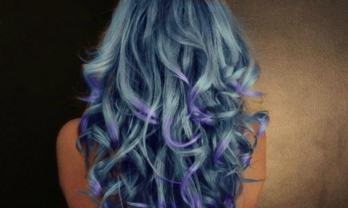 Волосы, окрашенные пастелью