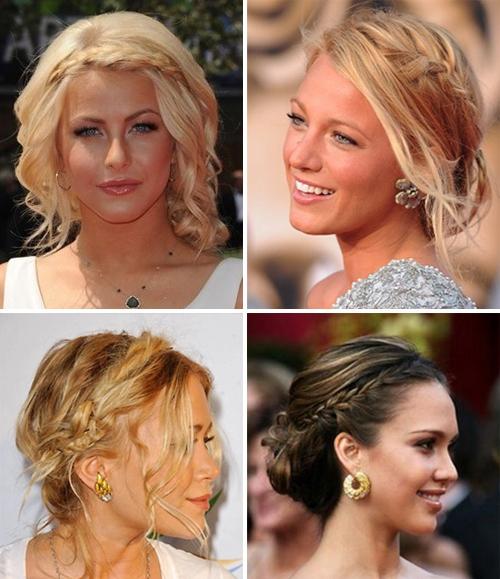 Прически волос средней длинны