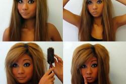 Укладка волос при помощи пудры