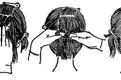 Выполнение химической завивки волос