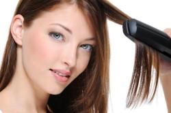Выпрямление волос стайлером