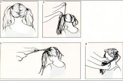 Пример плетения косичек